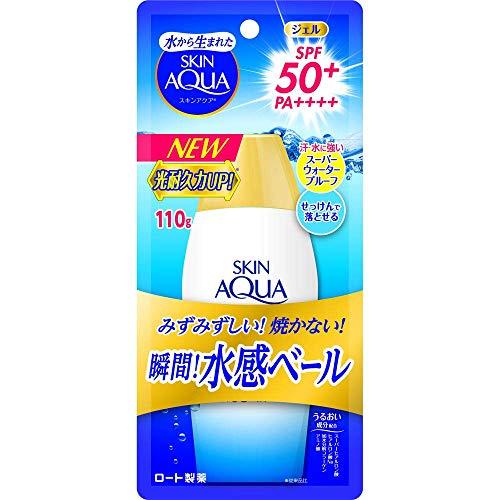 スキンアクア (SKIN AQUA) UV スーパー モイスチャージェル 日焼け止め 無香料 110g SPF50+ / PA++++ 猛暑...