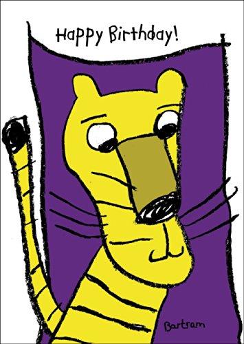Happy Birthday Tiger - de grappige verjaardagskaart voor groot en klein • ook voor direct verzenden met uw persoonlijke tekst als inlegger. • Mooie felicitatie cadeaukaart met envelop zakelijk & privé