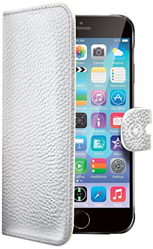 Celly Custodia a Portafoglio per iPhone 6, Bianco