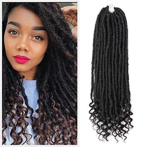 Lot de 5 extensions de cheveux synthétiques Havana Mambo - 50,8 cm - 24 racines - Pour dreadlocks synthétiques (1B)