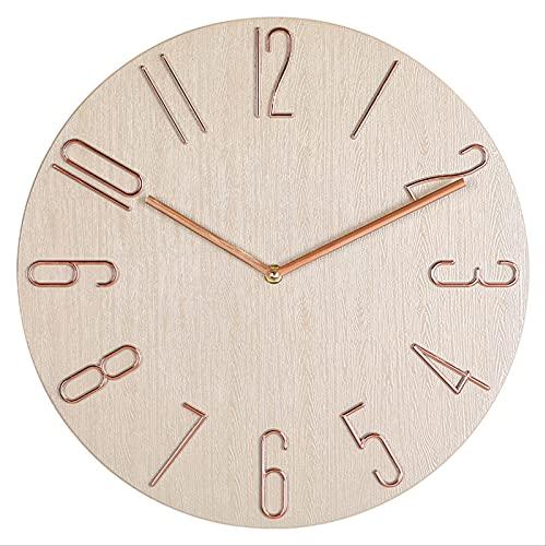 Reloj de pared Reloj de pared Reloj de 12 pulgadas Sala de estar Dormitorio Reloj de pared Paloma Gris