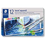 Staedtler Karat Aquarell Premium 125M12 Watercolor Pencil (Set of 12 Colors)