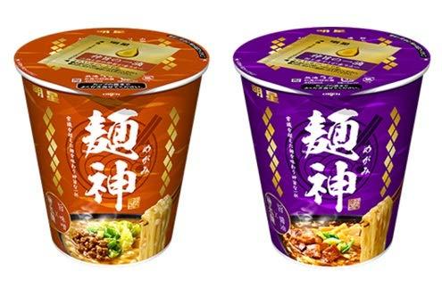 明星 麺神カップ 神太麺×旨 味噌 ・×旨 醤油  2種類各2食  1箱4食セット