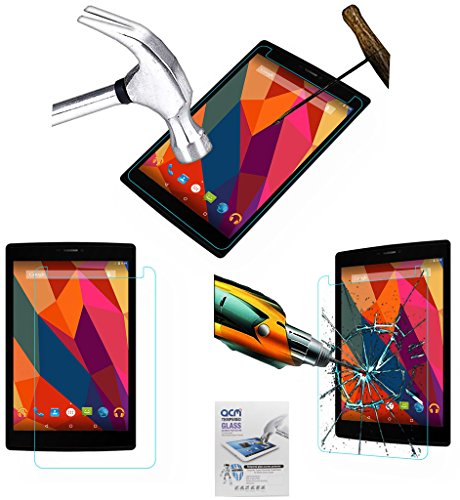 Acm Tempered Glass Screenguard Compatible with Micromax Canvas Tab P680 Tablet Screen Guard Scratch Protector