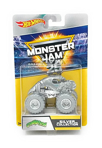Hot Wheels Monster Jam 25th Anniversary Silver Collection Crushstation Legend Die-Cast Vehicle