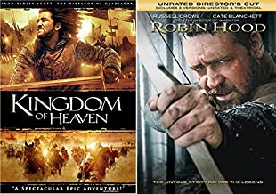 Kingdom of Heaven + Robin Hood DVD Russell Crowe 2 Pack Epic Movie Action Set