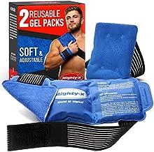 """Premium Hot & Cold Packs for Injuries - 2 Gel Packs (14""""x6"""" and 6""""x4"""") - Reusable Ice Packs for Injuries - Gel Ice Pack for Shoulder, Back, Knee and Hip"""