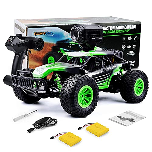 Gizmovine WiFi RC Cars with Camera, High Speed Racing Off-Road RC Cars with 2 Rechargeable Batteries, Outdoor RC Trucks Buggy Vehicle Electric Toy Cars,Gift for Boys and Girls