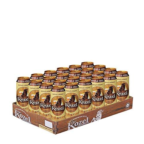 Kozel Velkopopovicky Helles Fassbier Palette 24 x 0,5 Liter Dosenbier / Premium Fassbier Tschechien