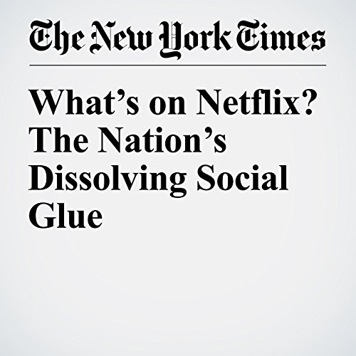 What's on Netflix? The Nation's Dissolving Social Glue copertina