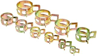 100 Spring Clip Water Pipe Fuel Hose Air Tube Clamp Fastener 6-22mm 10Size Handy