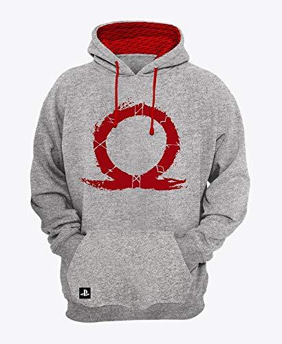 Moletom Logo, God of War, Adulto Unissex, Vermelho Escuro, PP