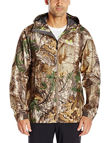Under Armour Men's Storm Gore-Tex Essential Rain Jacket, X-Large, Realtree Ap-Xtra/Velocity