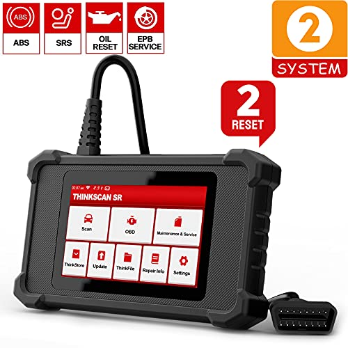 ThinkScan SR2 Car Scanner ABS SRS OBD2 Scanner, Enhanced Scan Tool Airbag Scanner with Lifetime Free Oil EPB Reset, Automotive Diagnostic Tool Wi-Fi Free Update