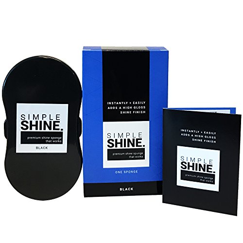 NEW Premium Quality Black Shoe Shine Sponge | Instant Shining for Luxury Leather, Patent, Waterproof, Gloss & Vinyl | Black Color for Bags Belts Boots Furniture Car Interiors & More | Made in USA