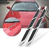 Kuuleyn Car Air Flow Hood Vent, 2 uds, Capó exterior de coche, puerta lateral, cubierta de ventilación de flujo de aire, rejilla de entrada, pegatina decorativa