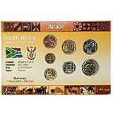 IMPACTO COLECCIONABLES Monedas del Mundo. Sudáfrica, Blister de 7 Monedas Auténticas SIN Circular