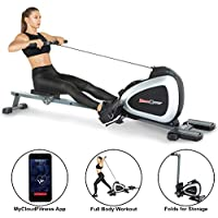 Fitness Reality 1000 Plus Bluetooth Magnetic Rower Rowing Machine With Extended Optional Full Body Exercises