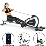 Fitness Reality 1000 Plus Bluetooth Magnetic Rower Rowing Machine with Extended Optional Full Body...