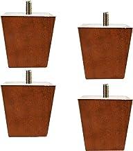 Houten meubelpoten, vierkante massief houten vervangingsvoeten voor meubels, set van 4 M8 / M10 boutbankvoeten, voor keuke...