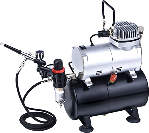 ABEST Complete Professional Airbrush Compressor Kit with Air Tank for Nails Tattoo Nail Art With...