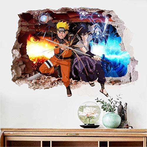 Anime Wall Mural 3D Naruto Photo Wallpaper Boys Kids Bedroom Custom Cartoon Wallpaper Home Large Wall Art Room Decor