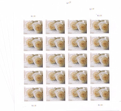 USPS 575900 Series Wedding Roses Commemorative Stamp Scott 4520 Sheet of 20 Forever Stamps