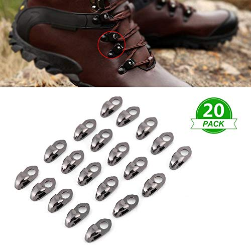 20pcs/set Shoelace Buckles,Boot Hooks Lace Fittings,for Climbing Boot Shoelace Buckle, Handbag Straps Connector, Diy Purse Making And Etc