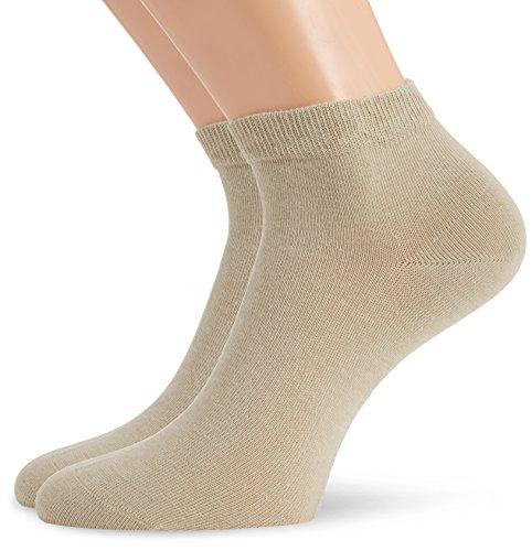Hudson Herren Sneaker Socken, 024481 Only, 2er Pack, Gr. 43/46, Beige (Sisal 0783)
