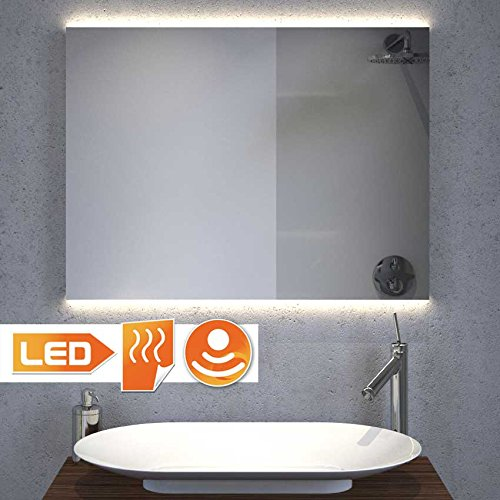 Schaere Badspiegel mit Hi-Power LED Beleuchtung ambilight, Sensor und Heizfolie 80 100 120 140 cm