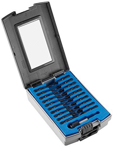 Witte 28430 Bitbox de 21 puntas de destornillador surtidas para atornilladores a batería de impacto profesionales, Set Piezas