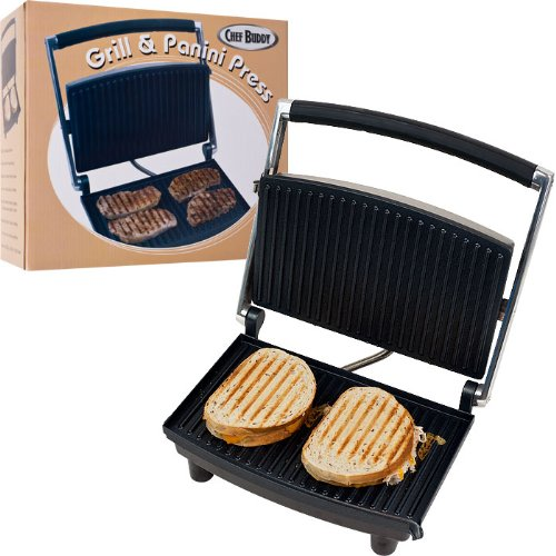 Best Quality Chef BuddyT Grill and Panini Press - Non-Stick