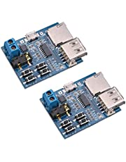 HiLetgo 2pcs TF Card U Disk Play MP3 Decoder Player Module with Audio Amplifier Audio Decoding Player Module Micro USB 5V Power Supply