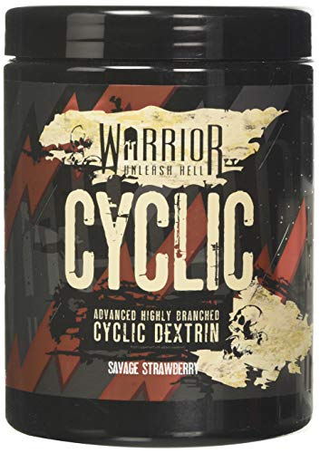 Warrior Supplements Cyclic Dextrin Pre and IntraWorkout Carbohydrate Muscle Pump Powder 16 Servings 400g, Savage Strawberry