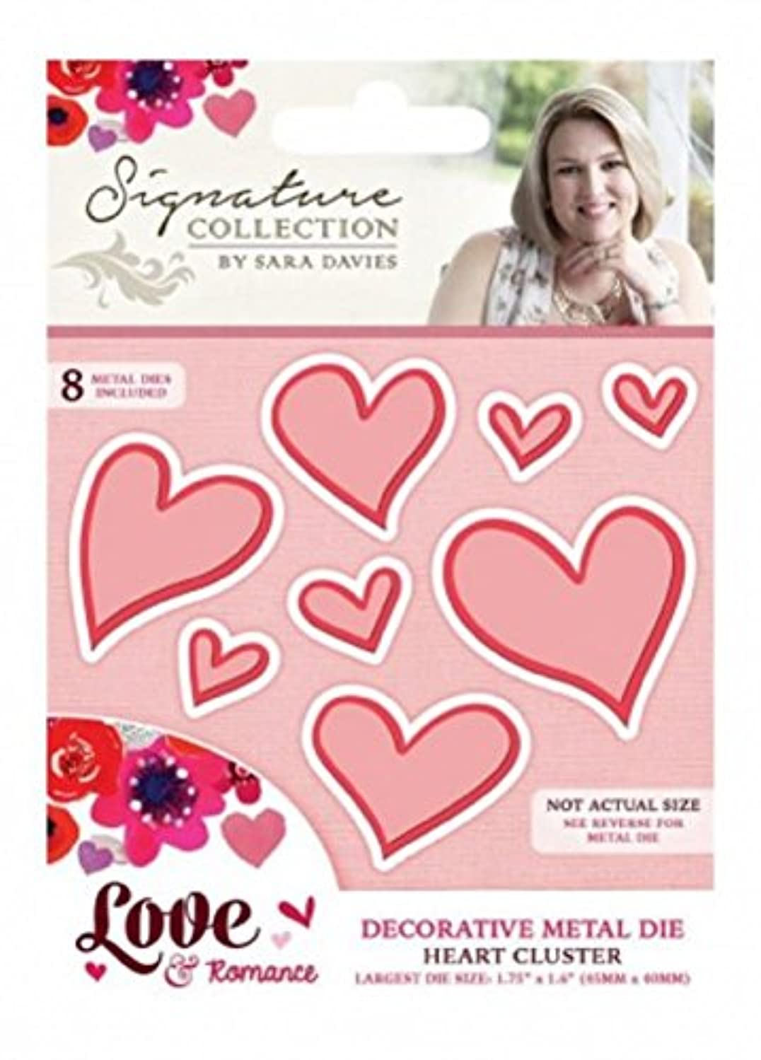 Crafter's Companion Metal Die Cut Template Heart Cluster Valentine