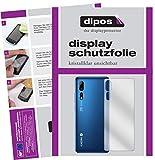 dipos I 2X Schutzfolie klar kompatibel mit ZTE Axon 10 Pro 5G Rückseite Folie Bildschirmschutzfolie (bewusst Kleiner als das Glas, da Dieses gewölbt ist)