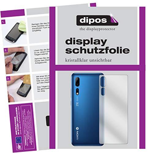 dipos I 2X Protector de Pantalla Compatible con ZTE Axon 10 Pro 5G Trasero pelicula Protectora Claro