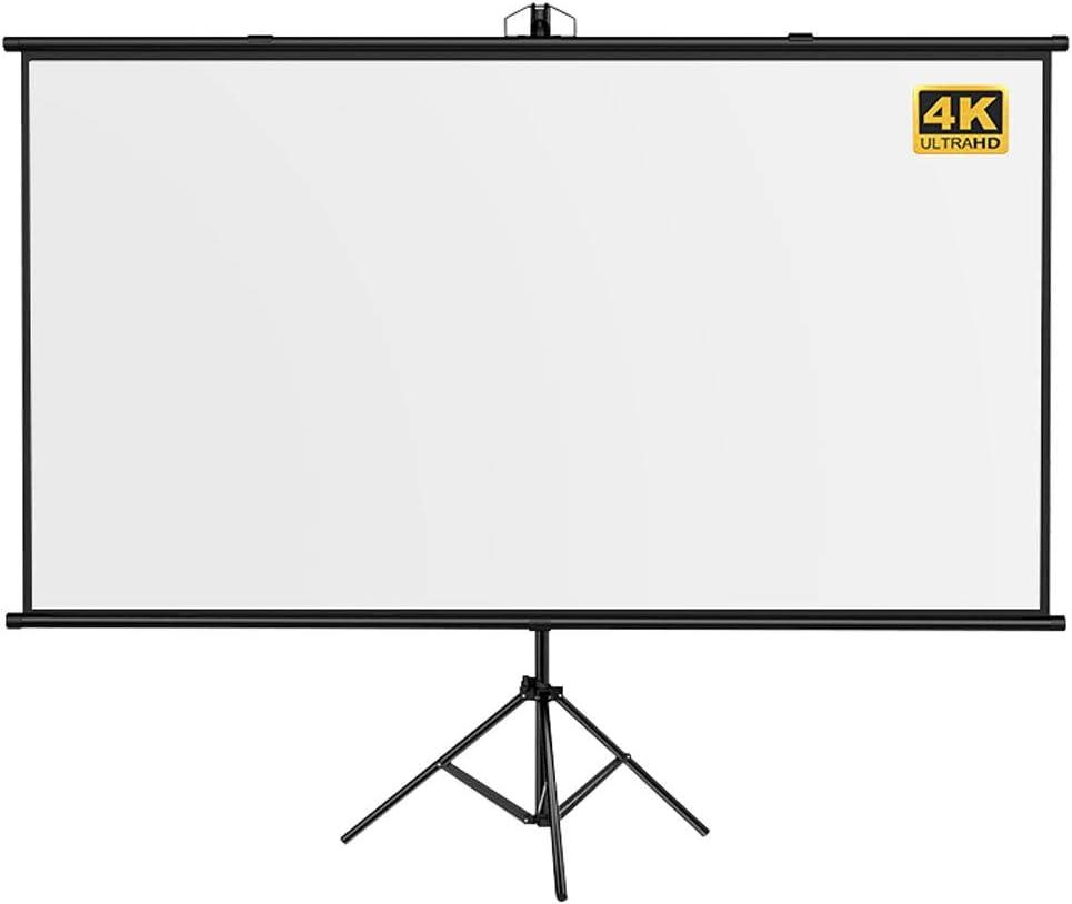 GELEI Projector Screen, Hd Projection Screen Projection Screen Stand Floor Movable Stand Home High Definition Convenient Punch-Free 4k Screen