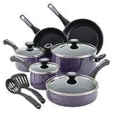 paul dean set - Paula Deen Riverbend Nonstick Cookware Pots and Pans Set, 12 Piece, Lavender Speckle