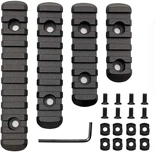 Pecawen Picatinny Rail Section Polymer 5 7 9 11 Slot Picatinny Weaver Rail for Mloc System product image
