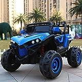 GT-LUX Moto Motore Auto Macchina ELETTRICA ATV Automobile Sport con MP3 USB Telecomando Genitori 4 Motori 12V (Blu)