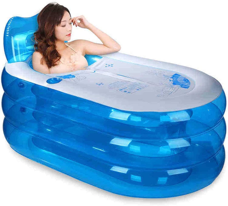 インフレータブルバスタブpvc大人水美容夏ポータブル折りたたみ旅行自由で永続的な浴槽付きカバー浴槽空気ポンプ,Footpumppackage-145*80cm
