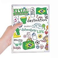 人生は冒険の旅ブラジルブラジル 硬質プラスチックルーズリーフノートノート