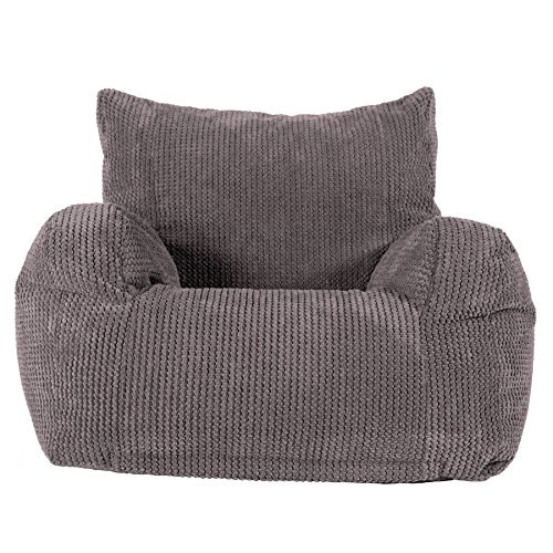 Lounge Pug, Sitzsack Ohrensessel, Pom-Pom Anthrazit