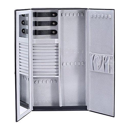 Ikee Design Wall-Mounted Jewelry Organizer Storage Case, 24W' x 2'D x 12'H
