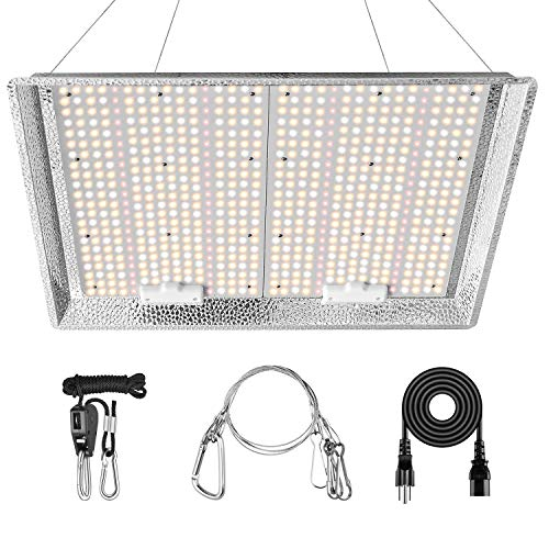 iPower AL 3000W LED Grow Light Daisy Chain Dimmable Full Spectrum for Hydroponic Indoor Plants Seeding Veg and Bloom in Greenhouse Tent, 3x4ft 4x5ft Coverage