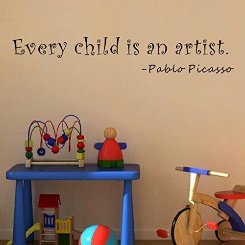 Pop Decors WL-0095-Va Inspirational Quote Muursticker, Elk kind is een kunstenaar