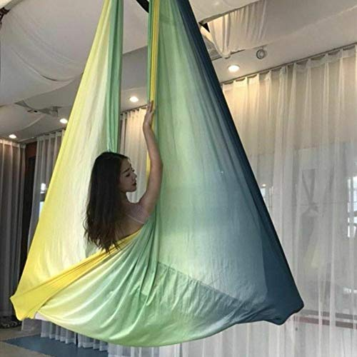 Fantastic Deal! Isaa Miilne 5/6/7m Nylon Aerial Yoga Swing Hammock Flying Belt Anti-Gravity Inversio...
