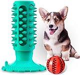 Juguete para masticar cachorro, cepillo de dientes de perro, juguete para morder, juguete de goma natural para el cuidado de los dientes, de maíz pequeño y mediano tamaño cachorro masticar juguete