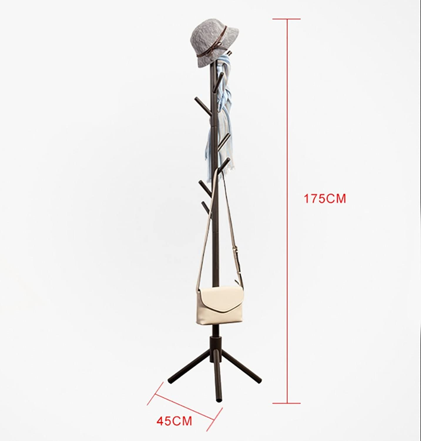 Standing Coat Rack Tree Stylish Wooden Hat Coat Rail Stand Rack Clothes Jacket Umbrella Storage Hanger Organiser 175CM(White) (color   A)